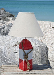 Red and White Buoy Lamp