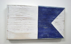 Nautical Wood Signal Flag- A (Alfa)