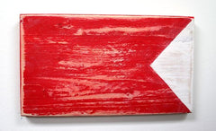 Nautical Wood Signal Flag- B (Bravo)