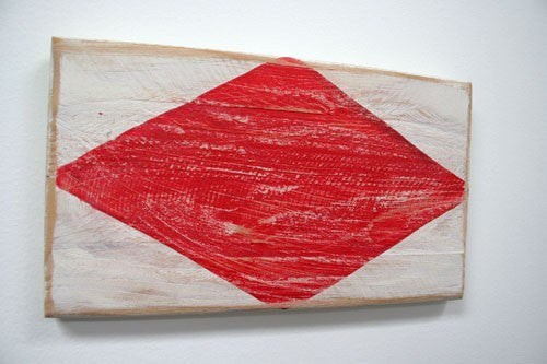 Nautical Wood Signal Flag- F (Foxtrot)