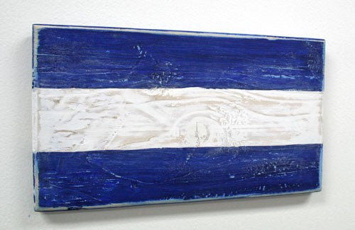 Nautical Wood Signal Flag- J (Juliet)