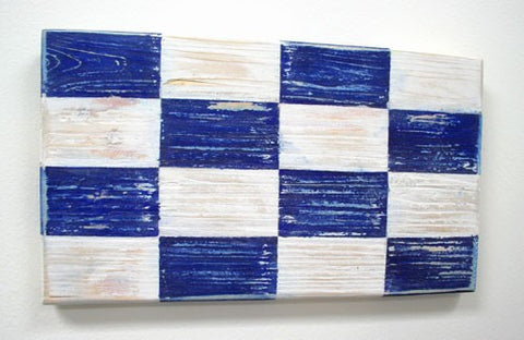 Nautical Wood Signal Flag- N (November)
