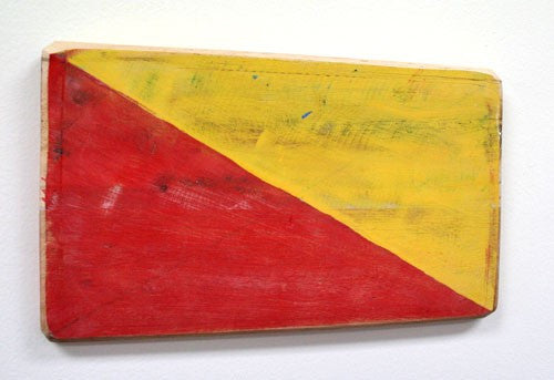 Nautical Wood Signal Flag- O (Oscar)