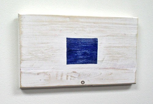 Nautical Wood Signal Flag- S (Sierra)