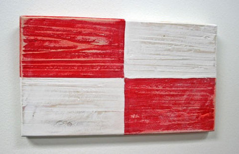 Nautical Wood Signal Flag- U (Uniform)