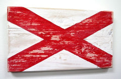 Nautical Wood Signal Flag- V (Victor)