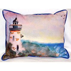 Betsy Drake Lighthouse Pillow- Indoor/Outdoor
