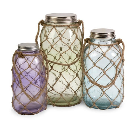 Marci Decorative Glass Jars- Set of 3