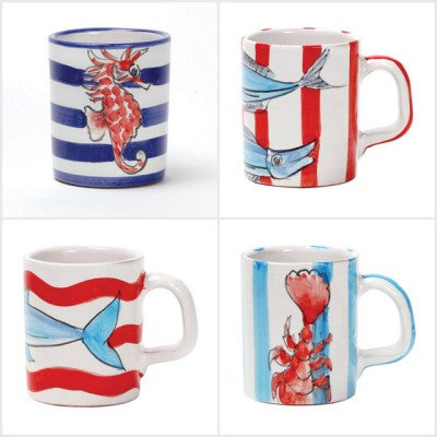Maremisto Assorted Mugs Set of 4 by Vietri