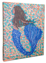 Mermaid B Canvas Wall Art