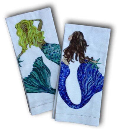 Mermaid Towel Set - Blond & Brunette