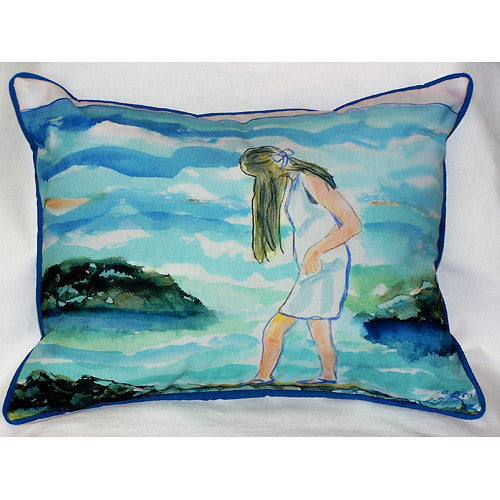 Betsy Drake Mia on the Rocks Pillow- Indoor/Outdoor