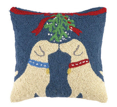 Labs Under Mistletoe Hook Pillow