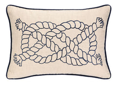 Nautical Knot Embroidered Pillow