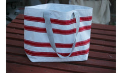 Nautical Stripe Large Tote