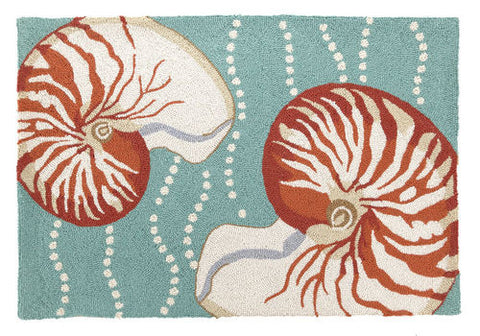 Nautilus Hook Rug- Accent