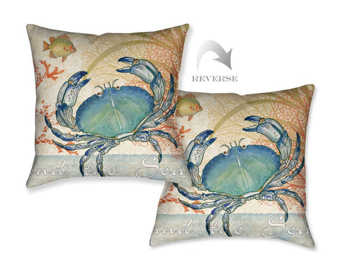 Oceana Crab Outdoor Decorative Pillow