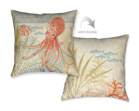 Oceana Octopus Outdoor Decorative Pillow