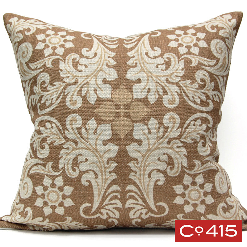 Leaf Square Pillow - Gold