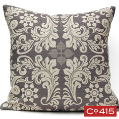 Leaf Square Pillow - Gray