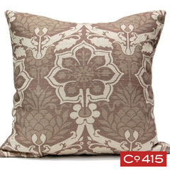 Pineapple Damask Pillow - Chocolate