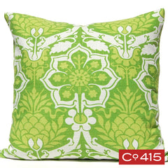 Pineapple Damask Pillow - Green