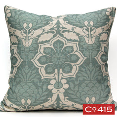 Pineapple Damask Pillow - Oyster Bay