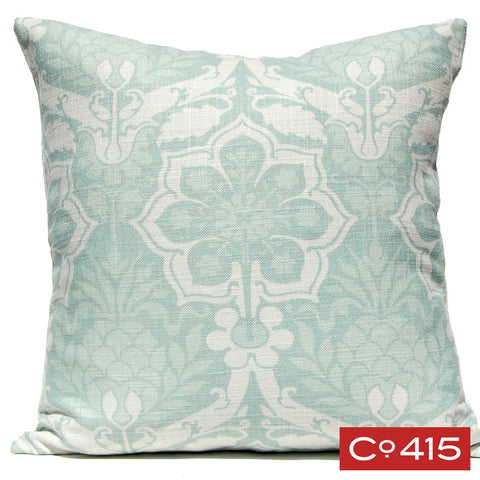 Pineapple Damask Pillow - Silverberry