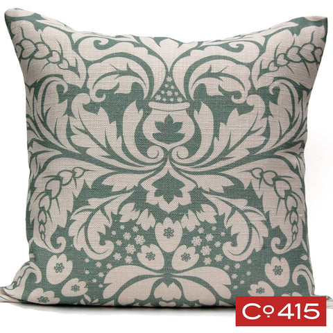 Large Damask Pillow - Oyster Bay