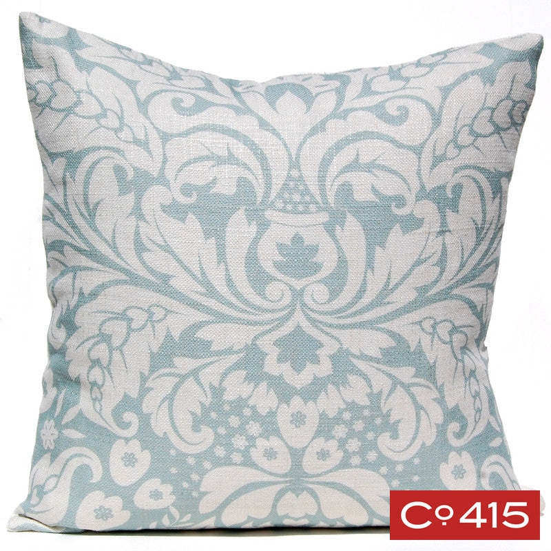 Large Damask Pillow - Silverberry