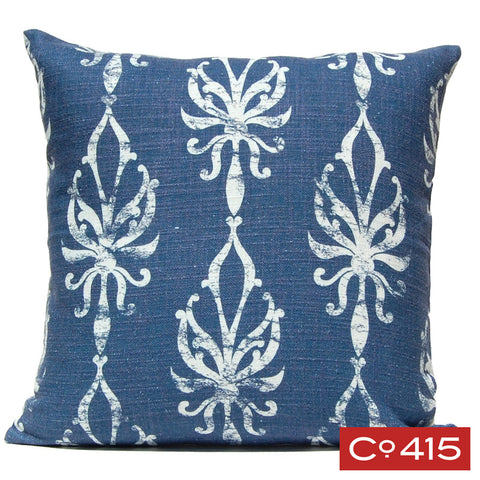 Flourish Ogee Pillow - Navy