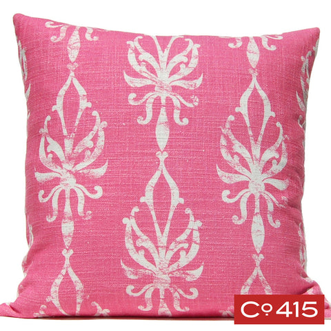 Flourish Ogee Pillow - Pink