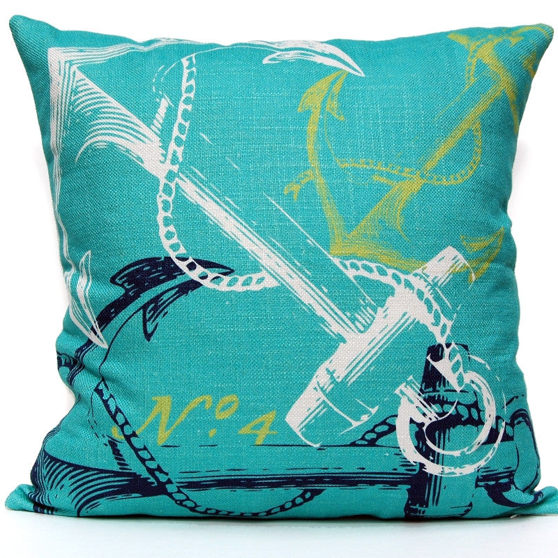 Anchor Pillow - Ocean