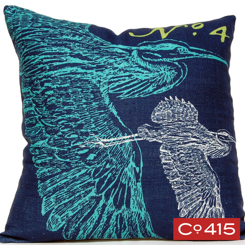 Heron Pillow - Ocean