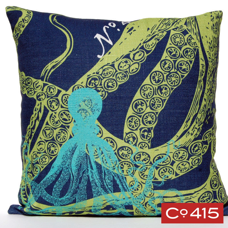Octopus Pillow - Ocean