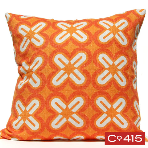 C's & X's Pillow - Orange
