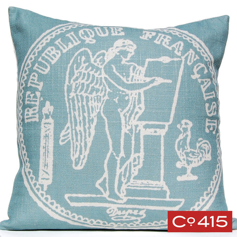 French Coin Pillow - Silverberry