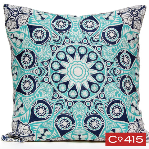 Medallion 4 Pillow - Ocean