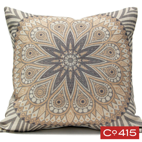 Medallion 5 Pillow - Gray
