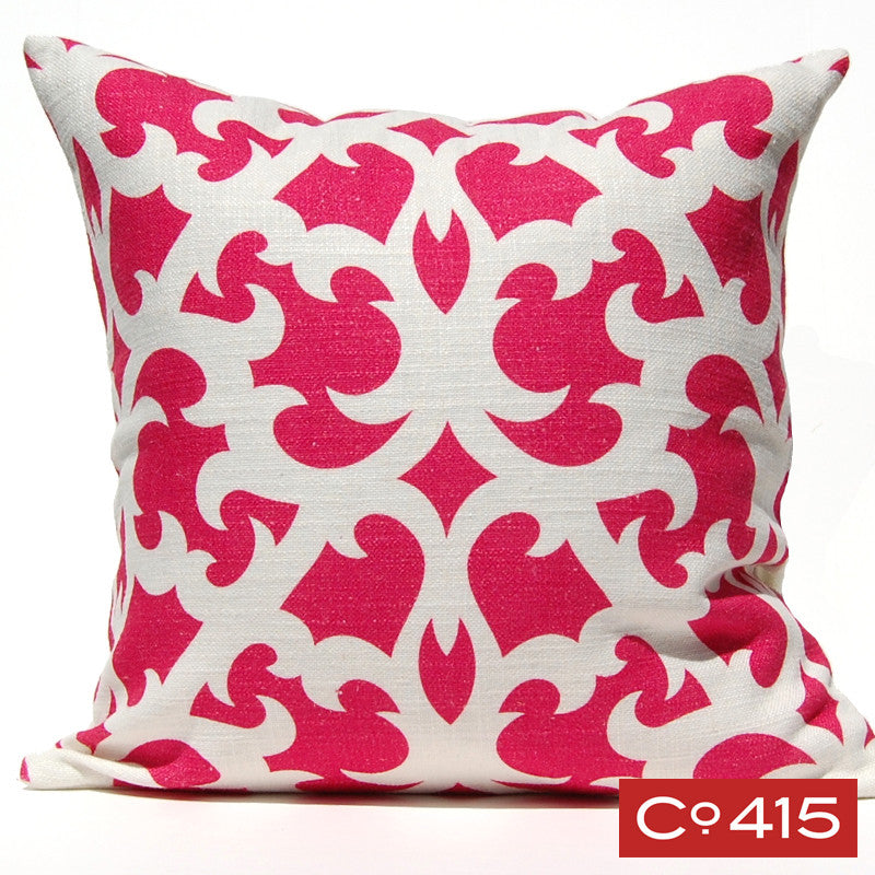 Open Trellis Pillow - Pink