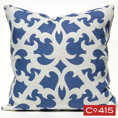 Open Trellis Pillow - Periwinkle