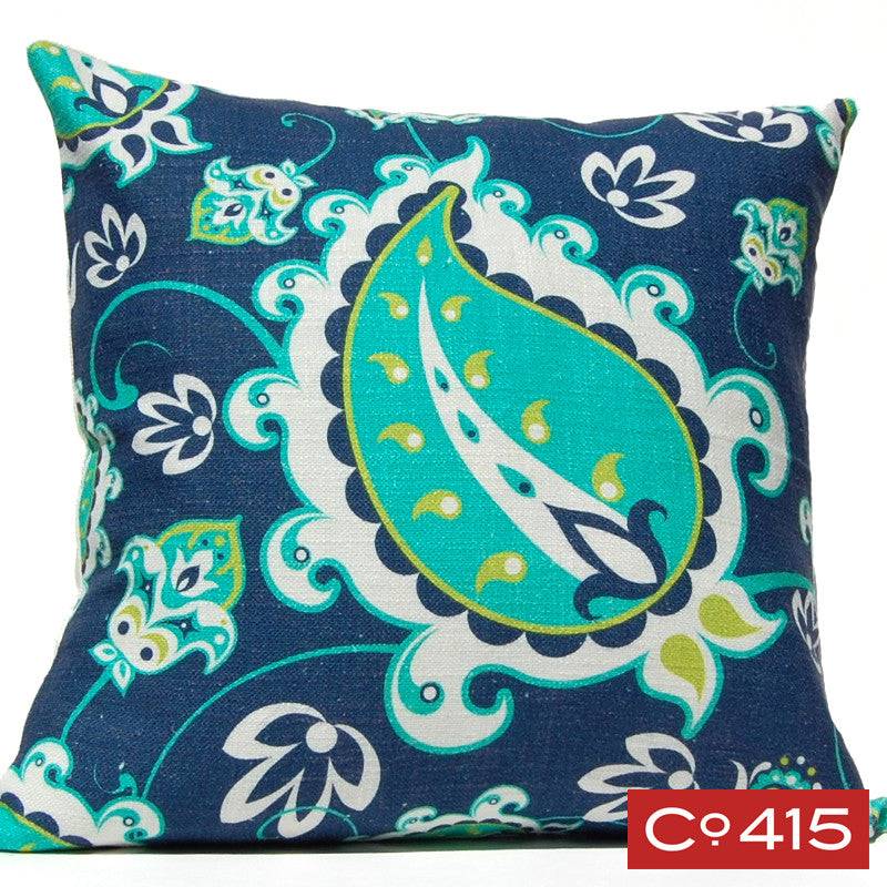 Paisley Pillow - Navy