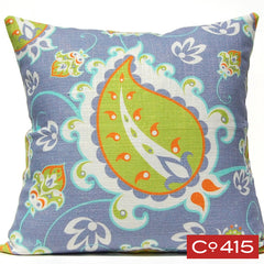 Paisley Pillow - Periwinkle