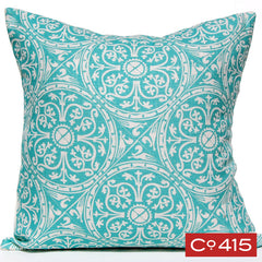 Tin Ceiling Pillow - Aqua