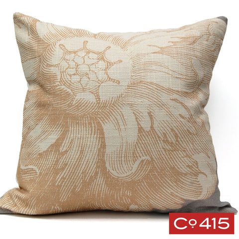 Rosette Pillow - Gold