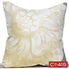Rosette Pillow - Gray