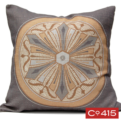 Medallion 6 Pillow - Gold