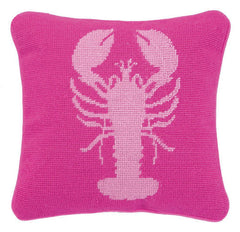 Lobster Needlepoint Pillow