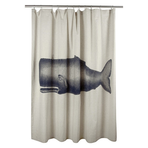 Moby Whale Shower Curtain