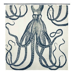 Octopus Shower Curtain - Ink Color